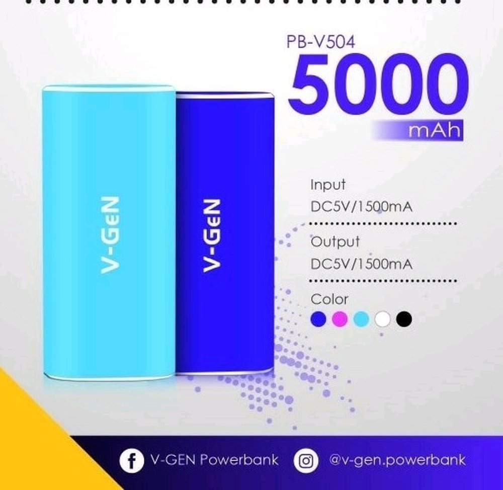 POWER BANK V-GEN RESCUE 5.000 MAH