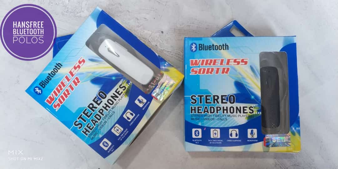 HANSFREE BLUETOOTH TANPA MERK NEW  PACKING PENDEK