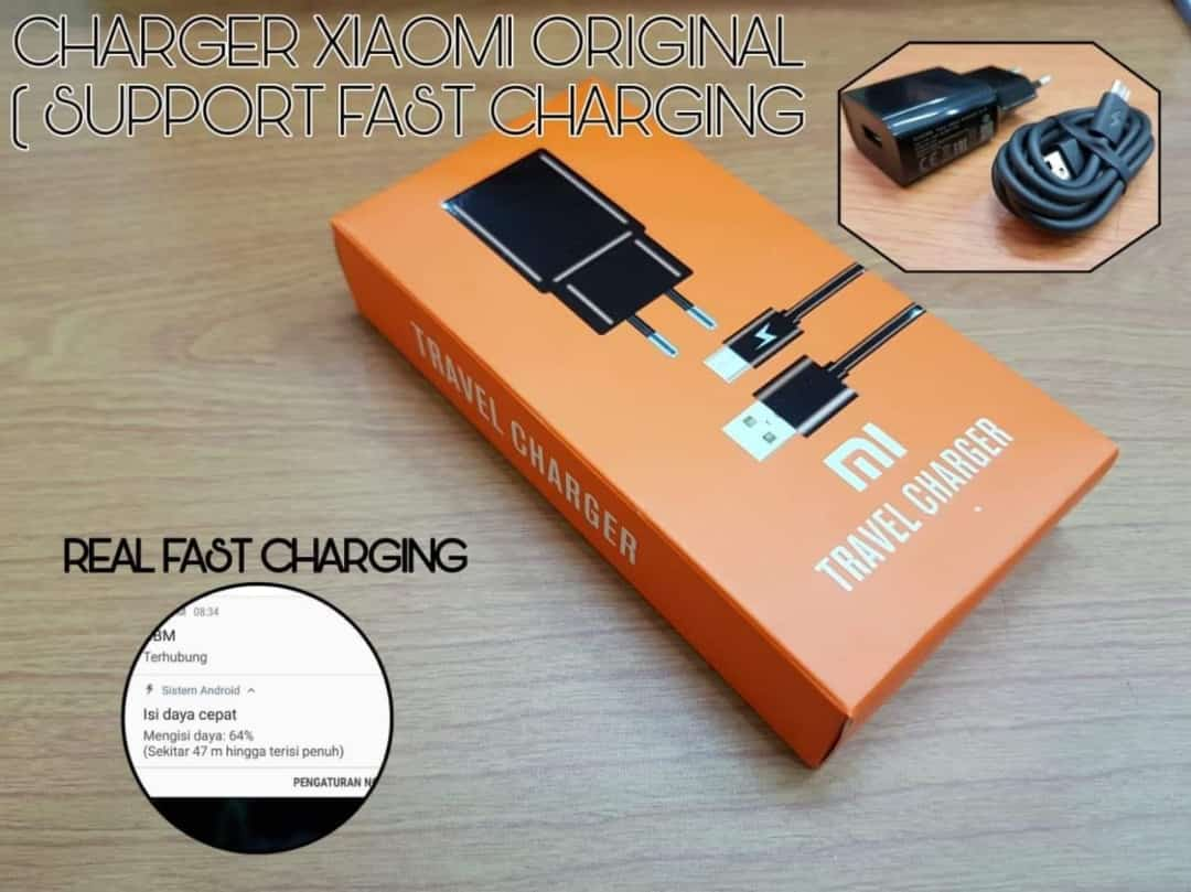 TRAVEL CHARGER XIAOMI MICRO ORI 100%
