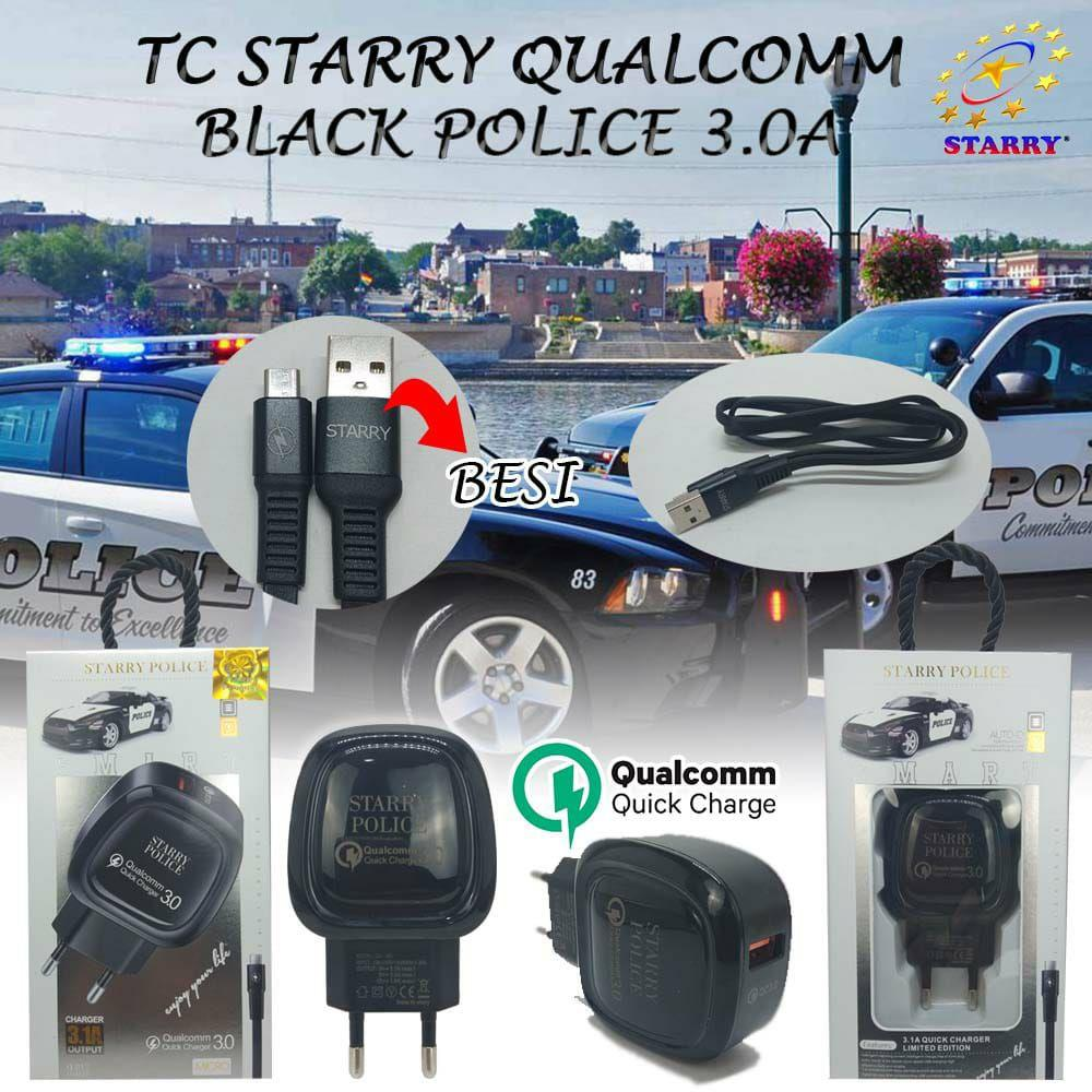TRAVEL CHARGER STARRY QUALCOMM BLACK POLICE