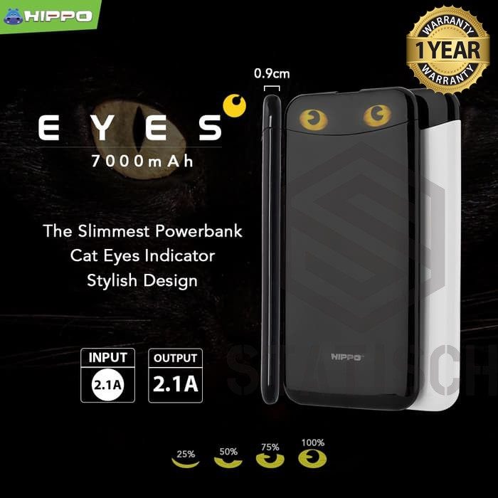 POWER BANK HIPPO EYES SIMPEL PACK 7.000 MAH