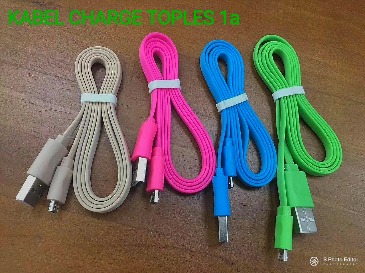 KABEL CHARGER MICRO WARNA FLAT NEW