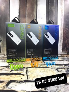 POWER BANK S5 BRANDED 3 USB OUTPUT 10.000 MAH